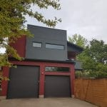 image of a modern home exterior painting project in Calgary | Hotshot Construction