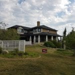 image of Calgary home with residential exterior painting services | Hotshot Construction