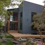 Backyard shot of exterior residential painting project in Calgary | Hotshot Construction